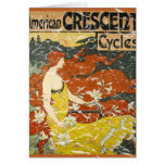 American Crescent Cycles - distressed Card