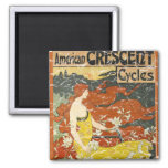 American Crescent Cycles - distressed Fridge Magnet