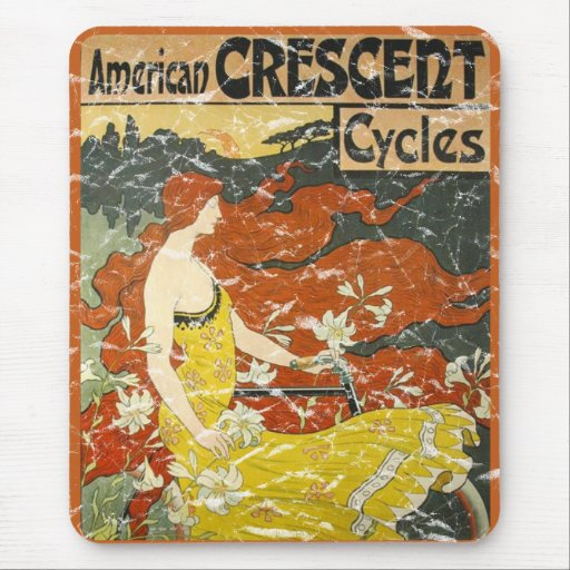 American Crescent Cycles - distressed Mouse Pad