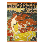 American Crescent Cycles - distressed Postcard