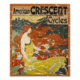 American Crescent Cycles - distressed Print