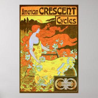 American CRESCENT Cycles Print