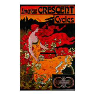 American Crescent Vintage PosterEurope Poster