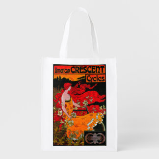 American Crescent Vintage PosterEurope Reusable Grocery Bag