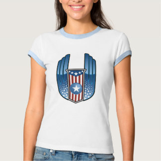 American Crest with Stars and Wings T Shirt