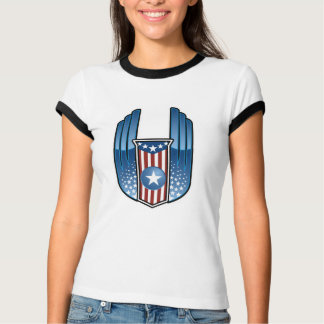 American Crest with Stars and Wings T-Shirt
