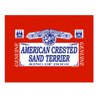 American Crested Sand Terrier Postcard