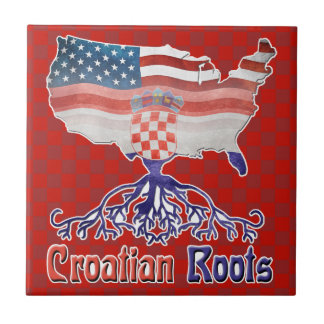 American Croatian Roots Ceramic Tile