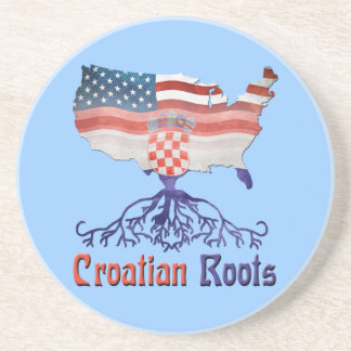 American Croatian Roots Drinks Coaster