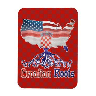 American Croatian Roots Photo Magnet