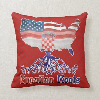 American Croatian Roots Pillow