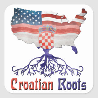 American Croatian Roots Stickers