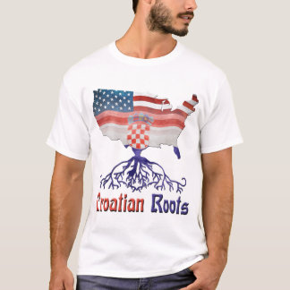 American Croatian Roots Tshirt