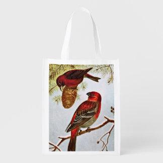 American Crossbill and Pine Grosbeak Grocery Bags