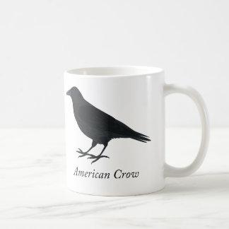 American Crow Classic White Coffee Mug