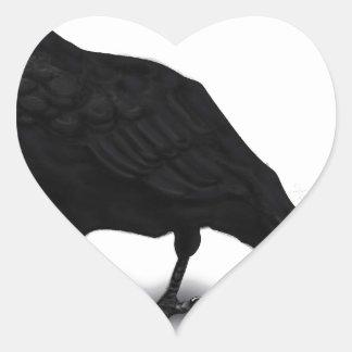 American Crow Heart Sticker