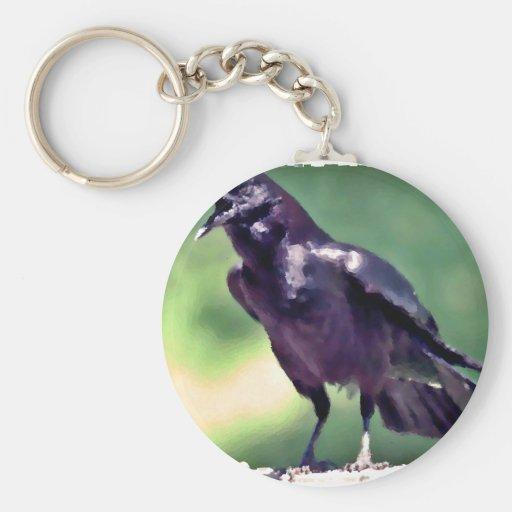 American Crow Keychain