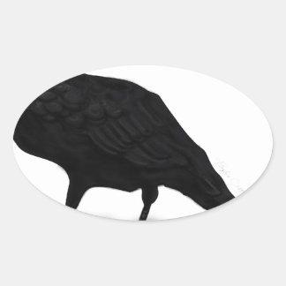 American Crow Oval Sticker