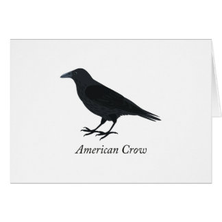 American Crow Stationery Note Card