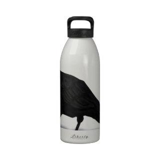 American Crow Water Bottle
