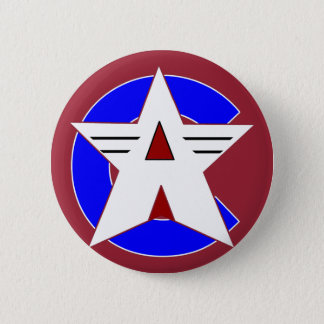 American Crusader III Round Button