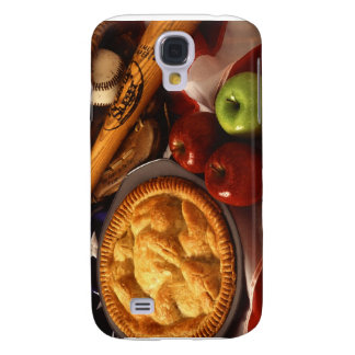 American Cultural Icons Apple Pie Baseball & Flag Galaxy S4 Cover