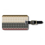 American culture background bag tag