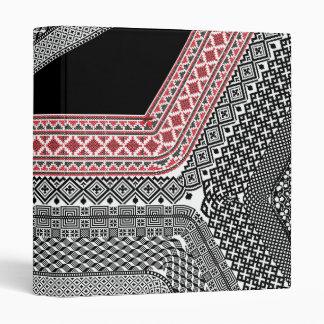 American culture pattern. 3 ring binder