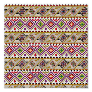 American culture pattern poster