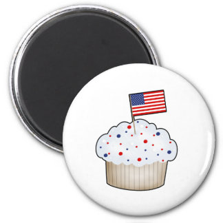 American Cupcake 2 Inch Round Magnet