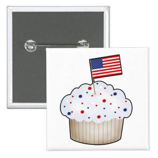 American Cupcake 2 Inch Square Button