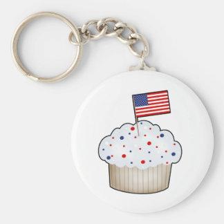 American Cupcake Keychain
