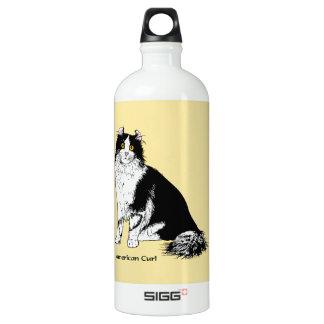 American Curl Cat Aluminum Water Bottle