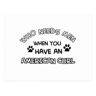 American Curl cat breed designs Postcard