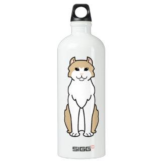 American Curl Cat Cartoon Water Bottle