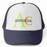 American Curl Monogram Design Trucker Hat