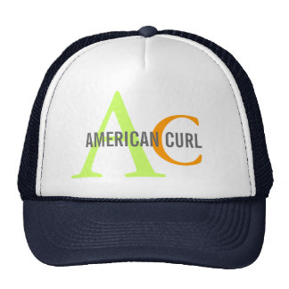 American Curl Monogram Design Trucker Hat