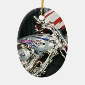 American Custom VTwin Motorcycle. Ceramic Ornament
