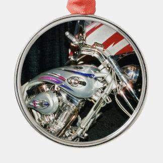 American Custom VTwin Motorcycle. Metal Ornament