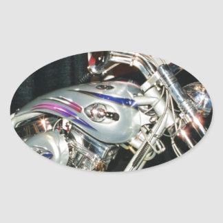 American Custom VTwin Motorcycle Oval Sticker