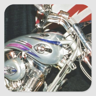 American Custom VTwin Motorcycle Square Stickers