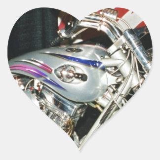 American Custom VTwin Motorcycle Heart Sticker