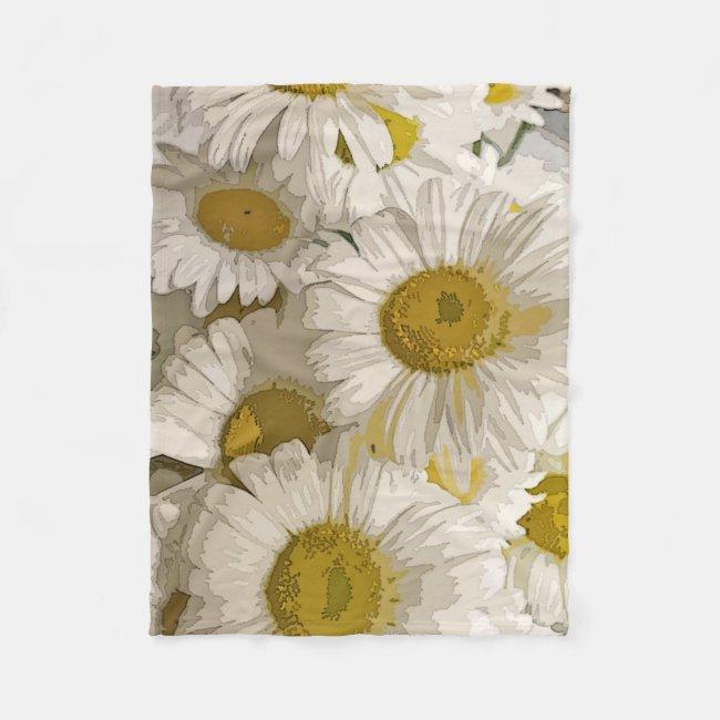 American Daisies Design Fleece Blanket