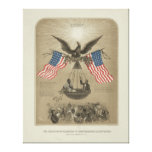 American Declaration of Independence illustrated Stretched Canvas Print