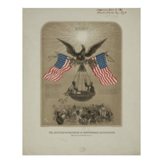 American Declaration of Independence illustrated Poster