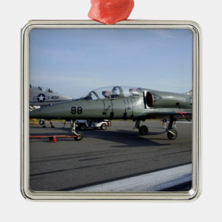American Defender Square Metal Christmas Ornament
