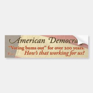 American Democracy Bumper Sticker