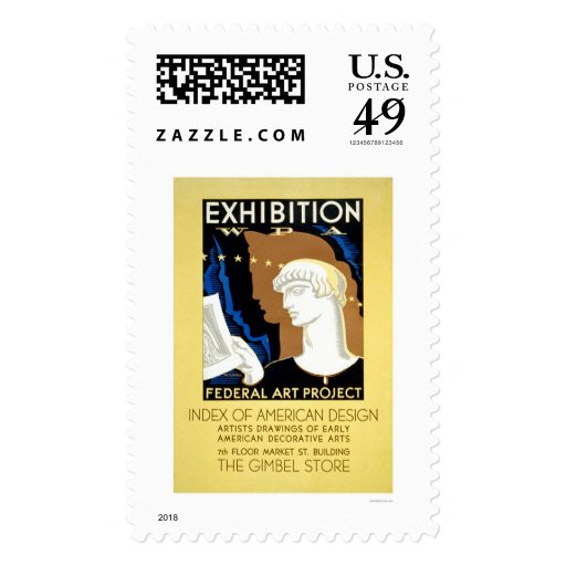 American Design 1936 WPA Postage Stamp
