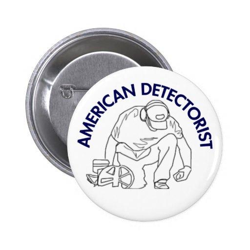 American Detectorist Round Button