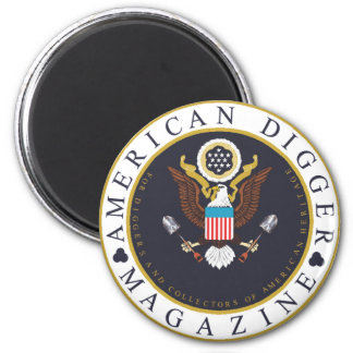 American Digger Logo 2 Inch Round Magnet